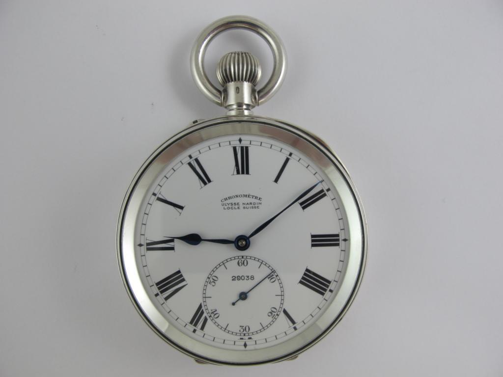 2 pl. kapesní hodinky CHRONOMETRE ULYSSE NARDIN LOCLE - Antik ... e9e9cf5ff9
