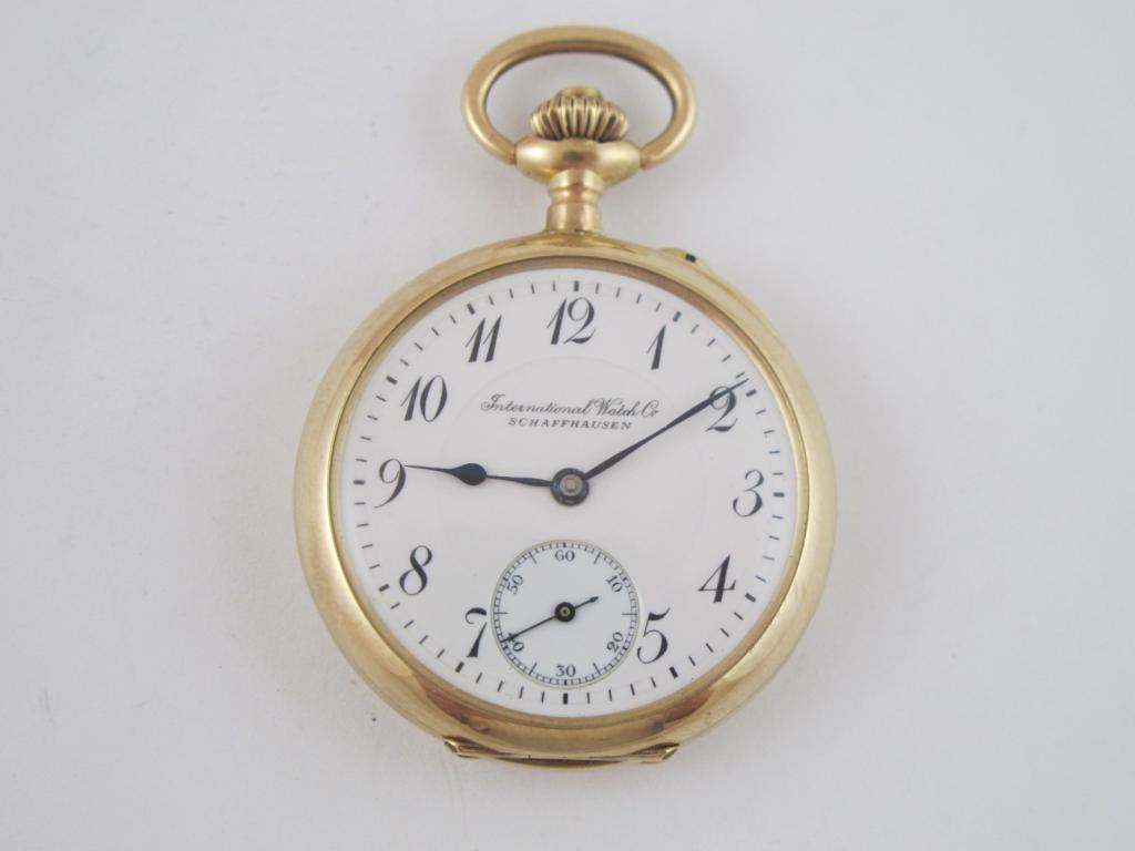 1bb8b84fa 2 pl. zlaté dámské hodinky IWC SCHAFFHAUSEN v.23.93 gr - Antik ...