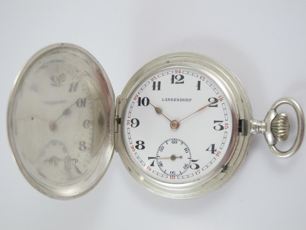 3 pl. stříbrné starožitné kapesní hodinky LANGENDORF - Antik-hodinky ... af90ae6c9b