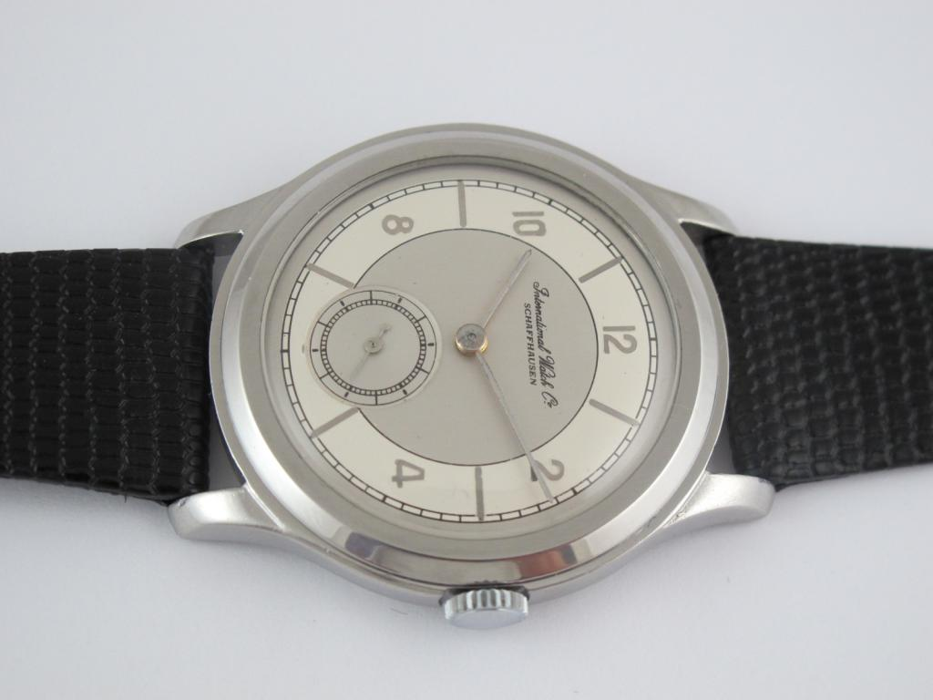 Náramkové ocelové hodinky IWC SCHAFFHAUSEN z roku 1938 - Antik ... 5235e55778