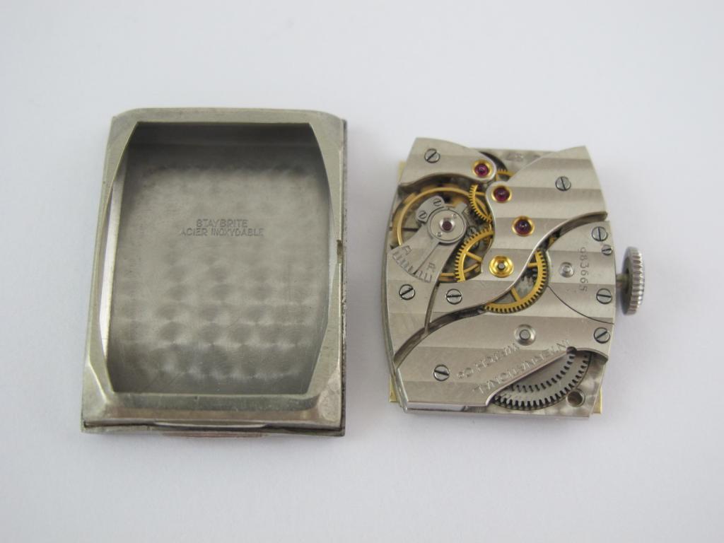 Náramkové ocelové hodinky IWC SCHAFFHAUSEN c.87 z roku 1938 - Antik ... c40ee4f113