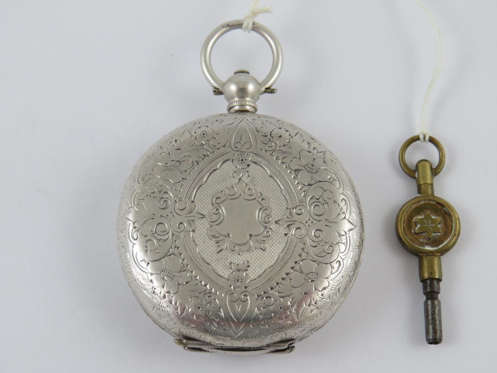 2 pl. stříbrné dámské secesní švýcarské hodinky na klíček v. 48 825eb3f5368