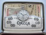 2 pl. ocelové CHRONOMETRE OMEGA v originální etuji se záručním listem 2555